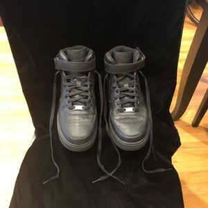 All black Air Force 1s size 10